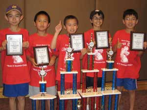 The Half Day winning team (l to r): Haoyang Yu, James Wei, Jack XIao, Conrad Oberhaus and Alex Bian